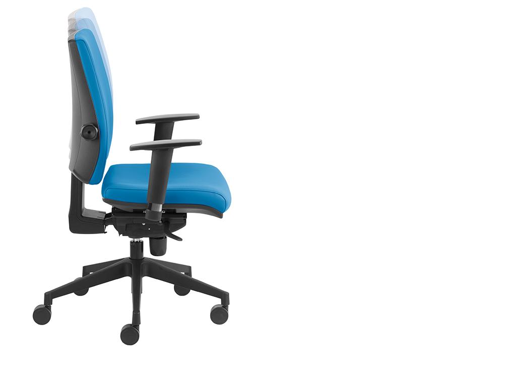 Regulacja wysokości oparcia (występuje w zależności od modelu krzesła)